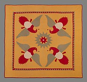 Quilt, Four Eagles pattern