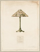 Suggestion for Lamp for Miss H. W. Perkins by the Tiffany Studios