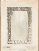 Sketch for Mirror Frame of Jewels & Wirework