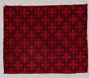 Ingrain carpet piece