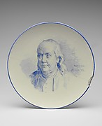 Plate of Benjamin Franklin