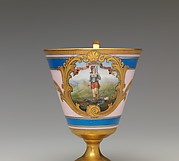 Continental footed porcelain cup, Virginia