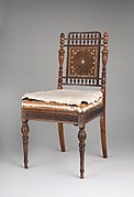 Side chair for the Library of the William H. Vanderbilt House