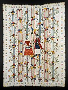 Embroidered coverlet (Colcha)