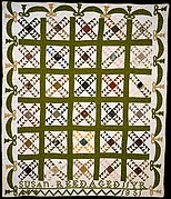 Quilt, Wild Goose Chase pattern