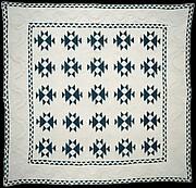 Quilt, Double X pattern