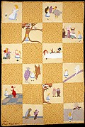 Crib Quilt, Alice in Wonderland patterned
