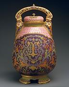 Covered potpourri vase