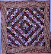 Quilt, Log Cabin pattern, Barn Raising variation