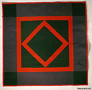 Quilt, Diamond in the Square pattern