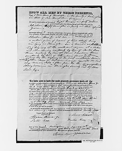 Manuscript Deed for Shaw Homestead, Kensington, New Hampshire
