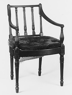 Square-back armchair