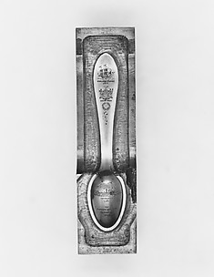 Die for upper section of Hudson-Fulton Celebration Souvenir Spoon