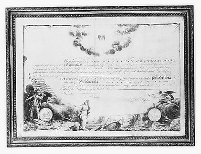 Membership Certificate of the Society of the Cincinnati