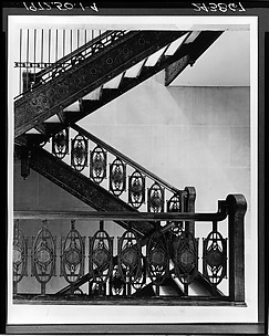 Staircase from Chicago Stock Exchange Building, Chicago