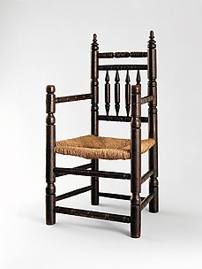 Spindle-back armchair