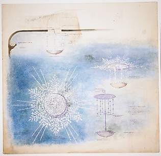 Design for light fixtures and ceiling decoration of Hershey Theater, Hershey, Pennsylvania