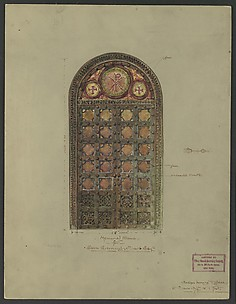 Design for bronze double doors