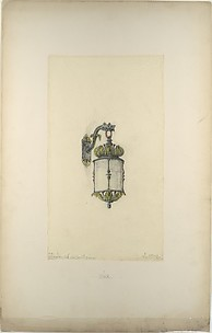 Design for hanging wall-mounted lantern