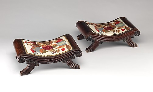 Pair of foot stools