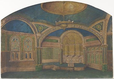 Design for a church interior