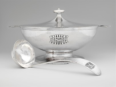 Covered Soup Tureen and Ladle