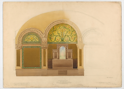 Design for the altar wall from Saint John's Refomed Church, Allentown, Pennsylvania