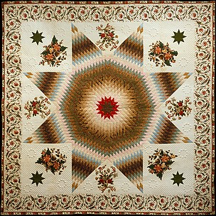 Quilt, Star of Bethlehem pattern