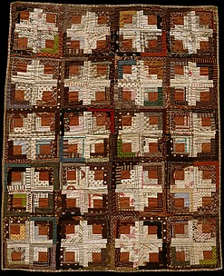 Log Cabin Crib Quilt