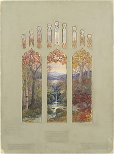 Design for Autumn Landscape window