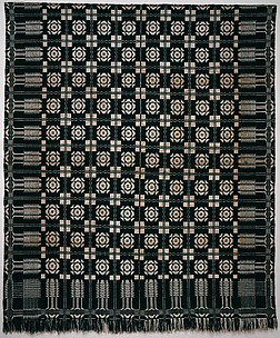Coverlet, Virginia Beauty pattern with Pine-tree border