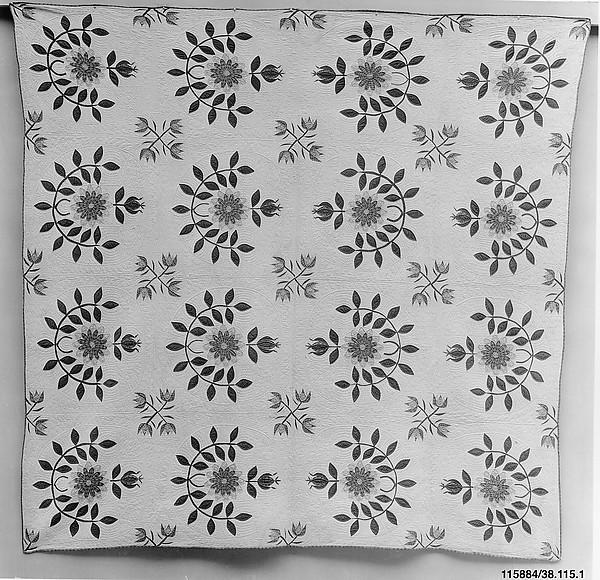 Quilt, Prairie Flower Pattern
