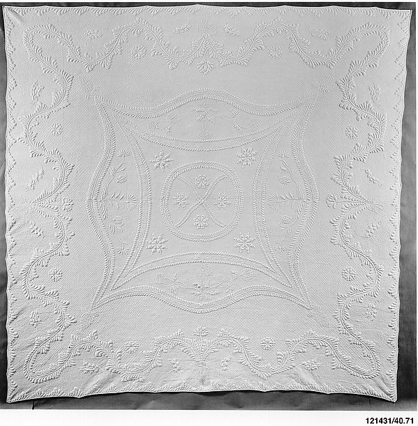 Wholecloth whitework quilt