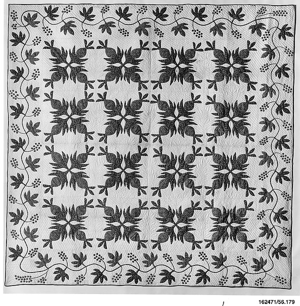 Quilt, Pineapple pattern