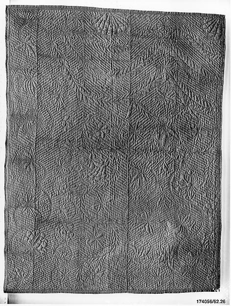Wholecloth calamanco quilt
