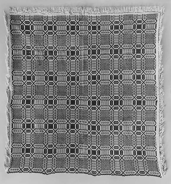 Coverlet, Saint Ann's Robe or Governor's Garden pattern