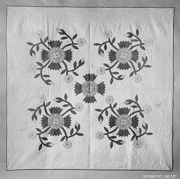 Quilt, Rose of Sharon pattern