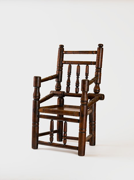 Turned armchair