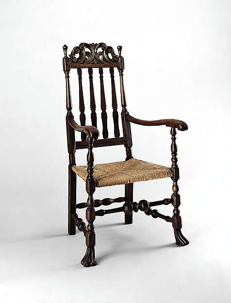 Banister-back armchair