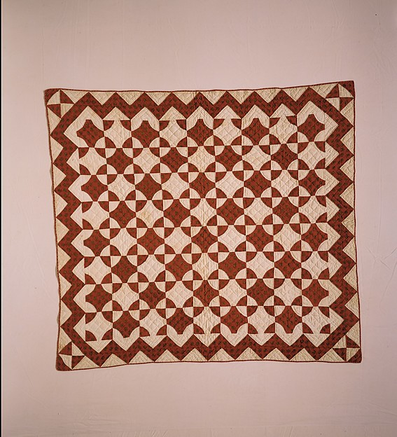 Crib Quilt, Mill Wheel pattern