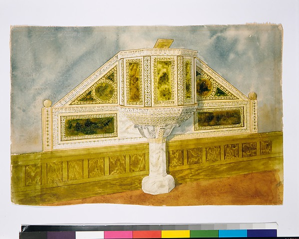 Design for marble pulpit