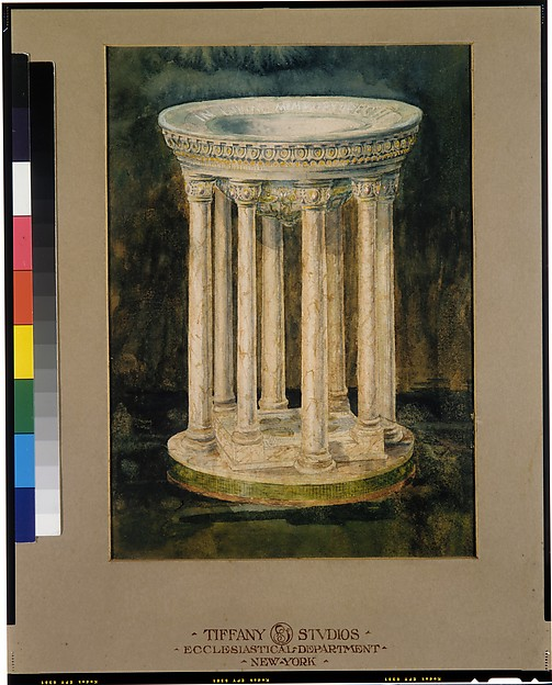 Design for a marble baptismal font