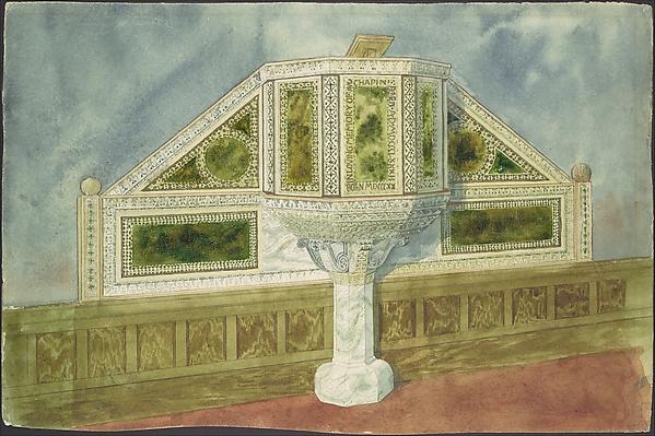 Design for marble pulpit