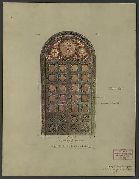 Design for bronze double doors
