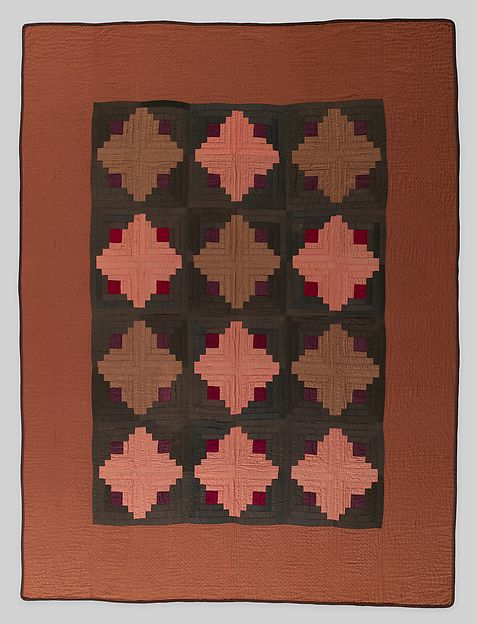 Quilt, Log Cabin pattern