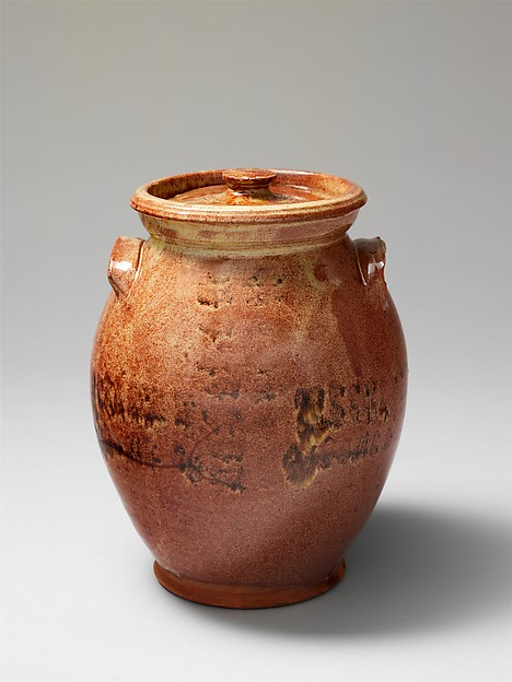 Covered jar