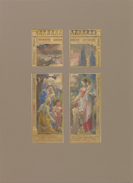 Design for  window, Mr. J.C. Williams, All Saints Chapel, Atlanta, GA,
