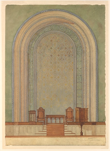Design for Chancel wall for First Reformed Church, Albany, NY