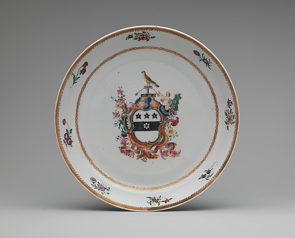 Covered Two-handled Bowl and Tray