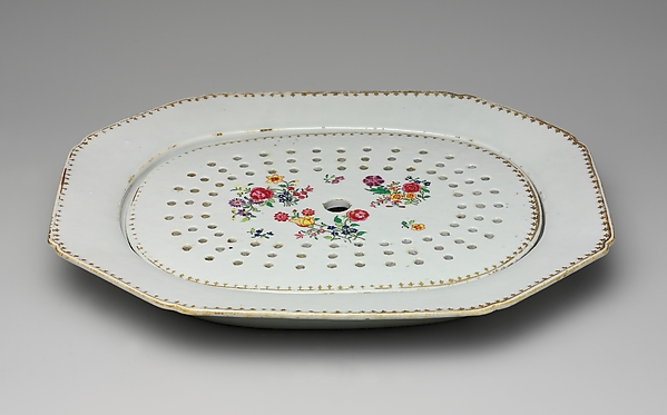 Fascinating Historical Picture of  with Platter with Drainer in 1736